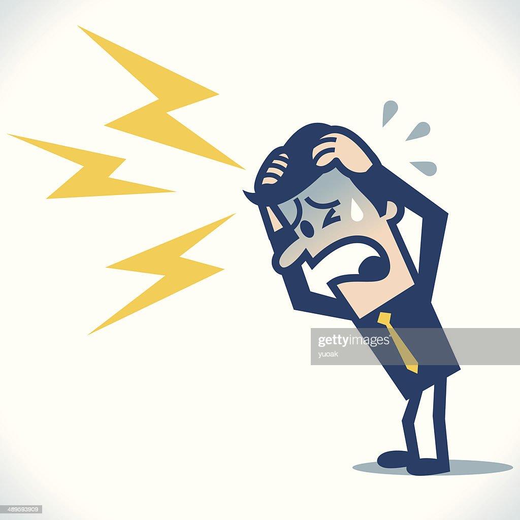 Headache : stock illustration