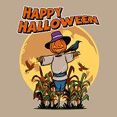 Headed Pumpkin Scarecrow
