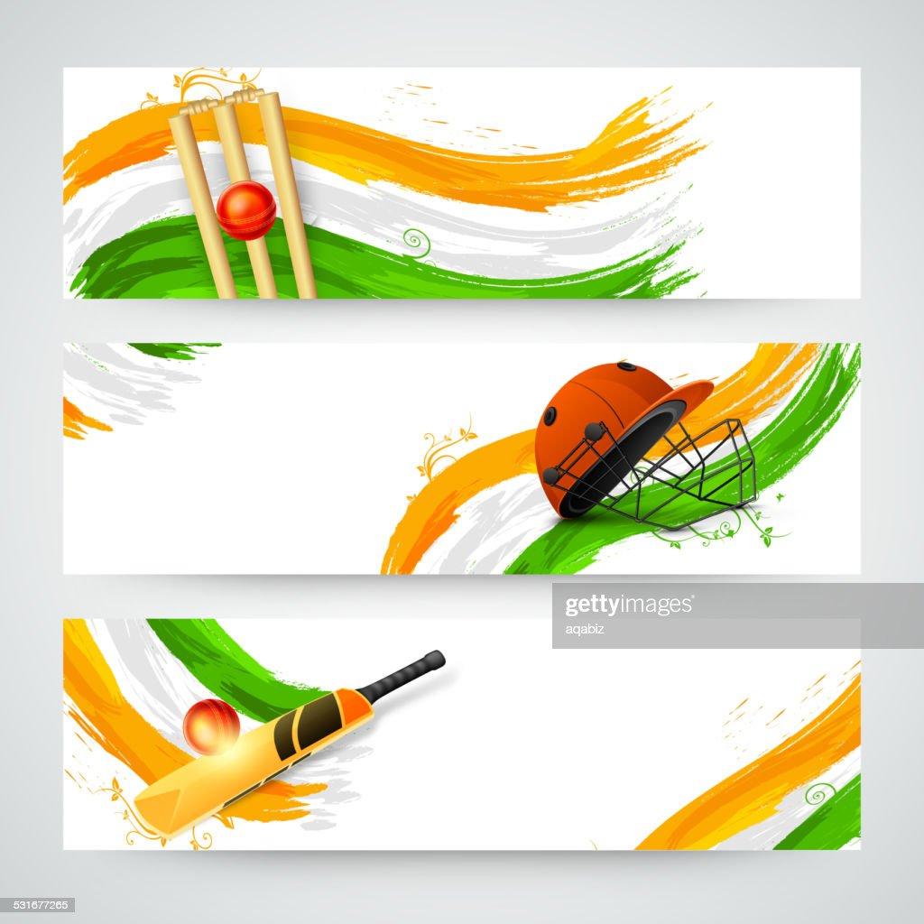 Header or banner set for Cricket.
