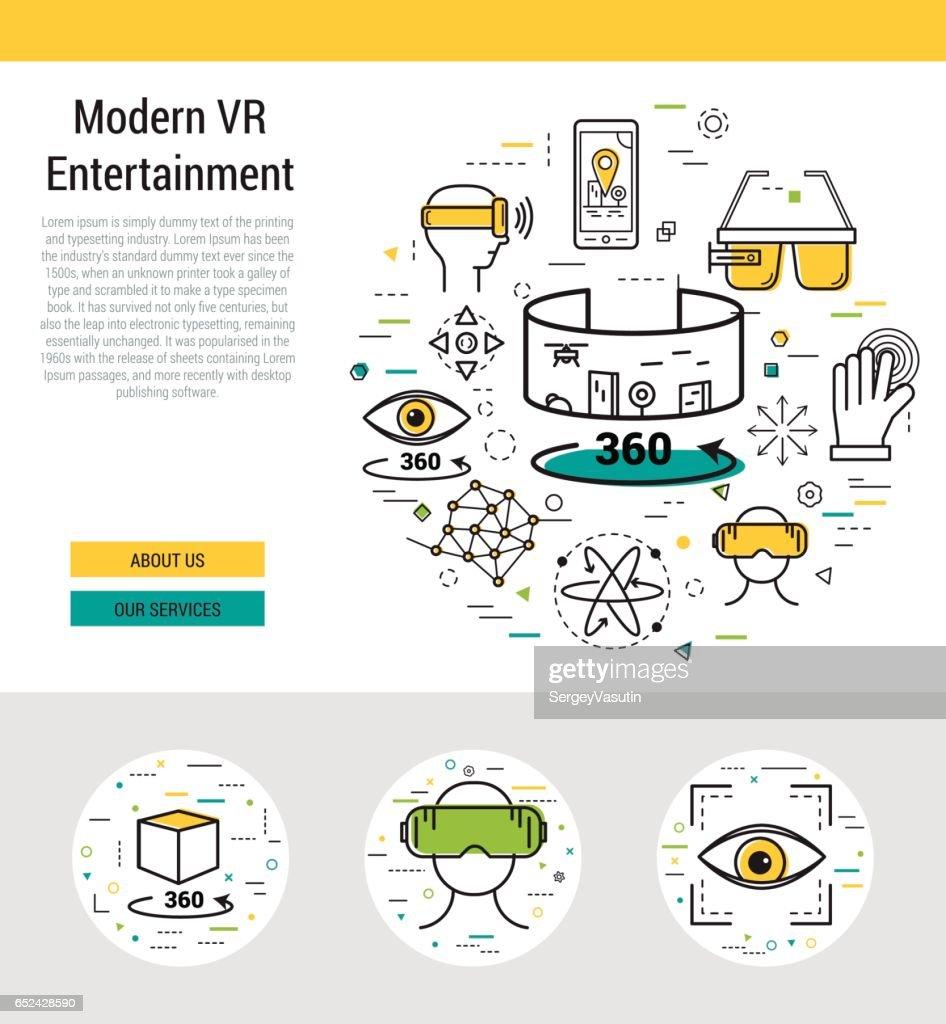 Header template - modern entertaiment