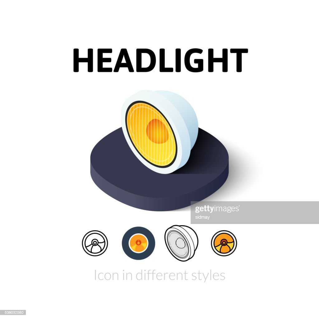 Headlight icon in different style