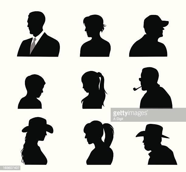 Head'n Shoulders Vector Silhouette