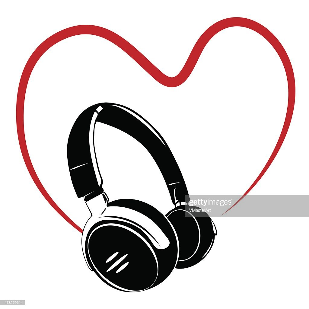 Headphone, music simbol.