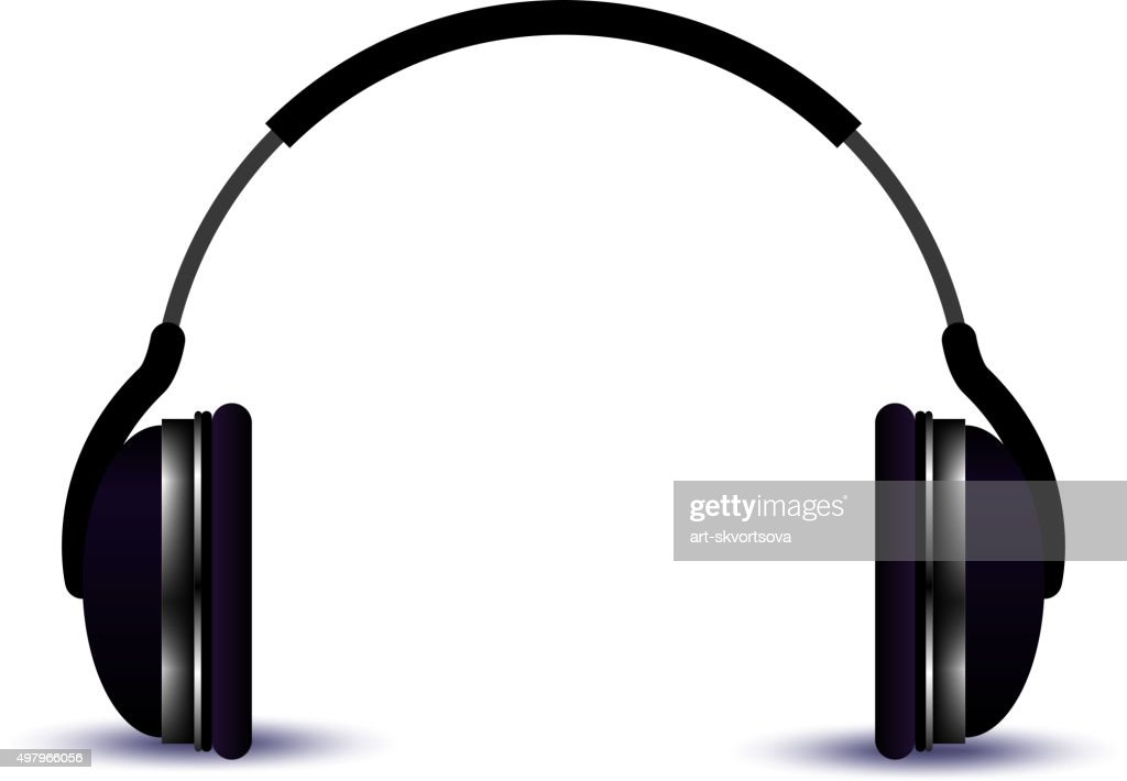 Headphone. Music vector illustration