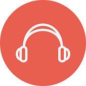 Headphone thi line icon