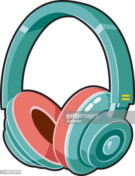 headphone - bass instrument stock illustrations, clip art, cartoons, & icons