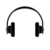 Headphones icon on white background vector