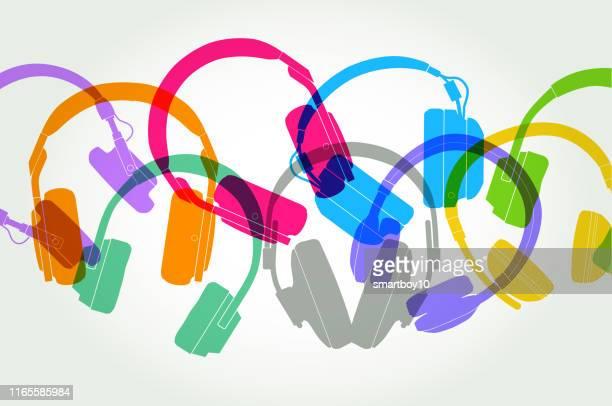 ilustrações de stock, clip art, desenhos animados e ícones de headphones - audiência