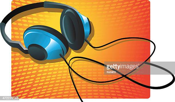 headphones - steel cable stock illustrations, clip art, cartoons, & icons