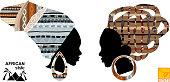 Heads of an African girls