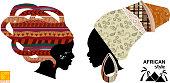 Heads of an African womens