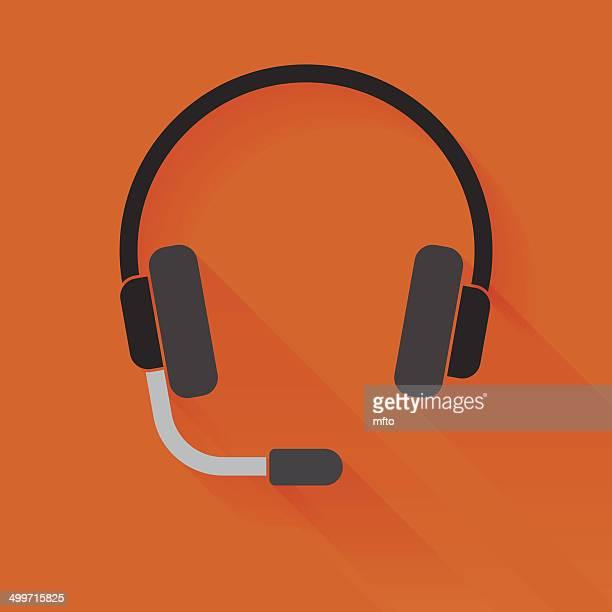 headset - length stock illustrations