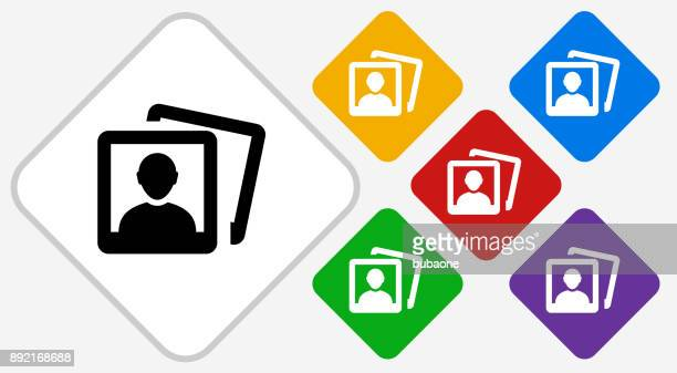Headshot Pictures Color Diamond Vector Icon