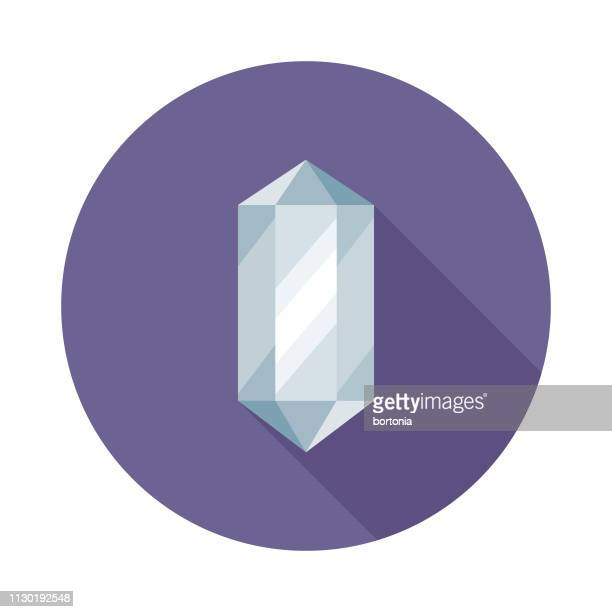 healing crystal spa icon - crystal stock illustrations