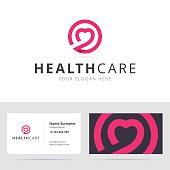 Healt care sign and business card template.