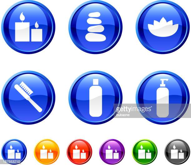 health and beauty products button royalty free vector art