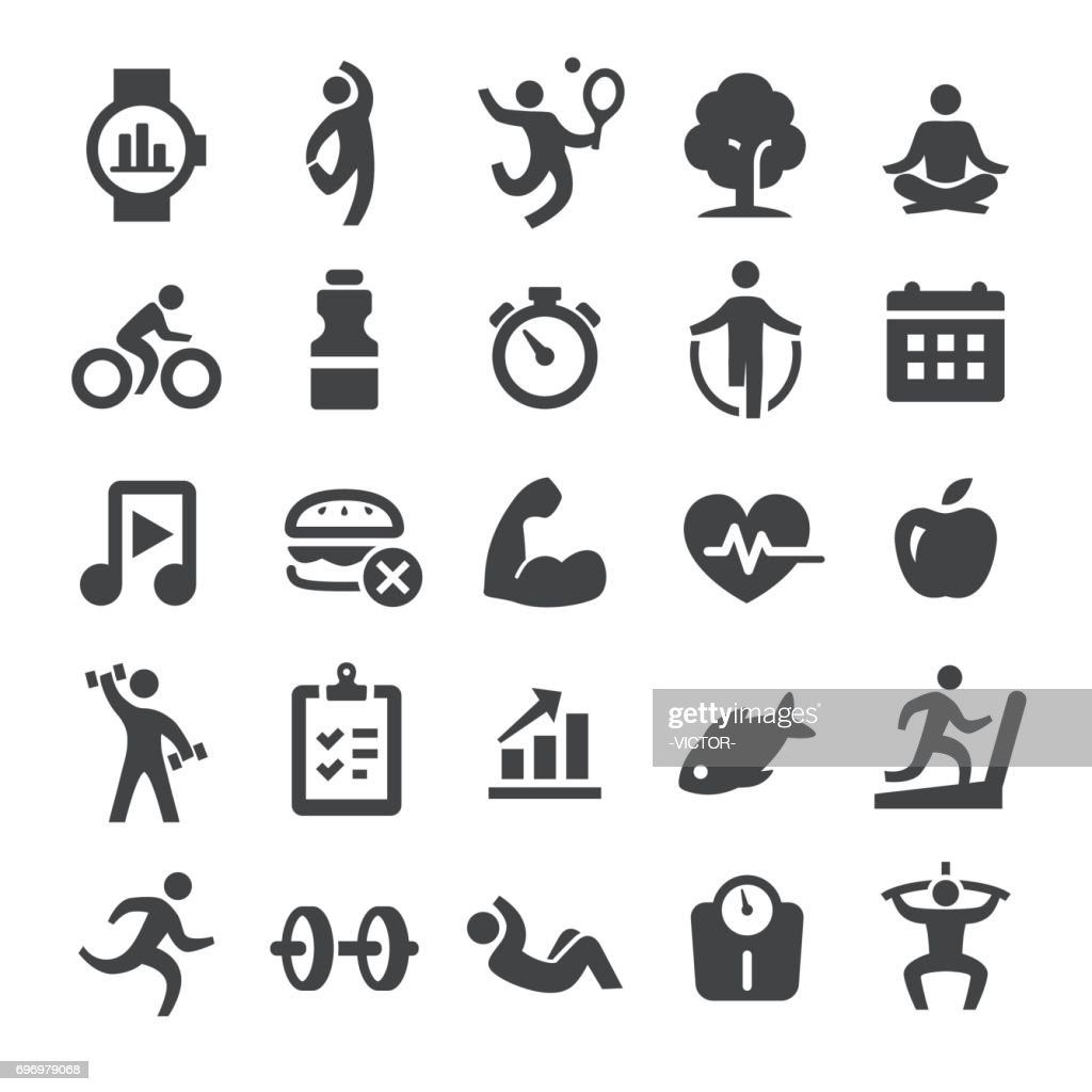 Health and Fitness Icons Set - Smart Series : stock illustration
