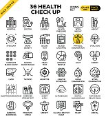 Health and Medical Check up icons