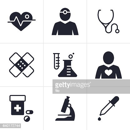 Health And Medical Symbols Vector Art Getty Images