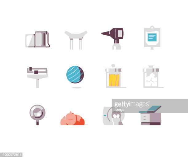 健康と医学のフラット アイコン シリーズ 4 - mri装置点のイラスト素材/クリップアート素材/マンガ素材/アイコン素材