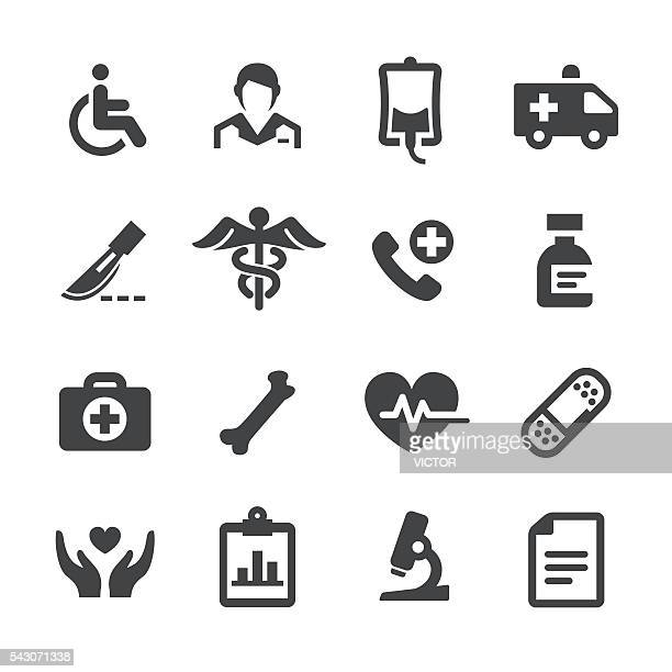health and medicine icons - acme series - international red cross and red crescent movement stock illustrations
