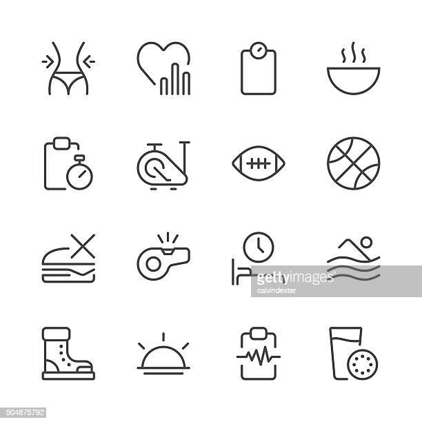 Health and Nutrition Icons set 2 | Black Line series
