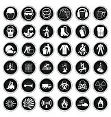 Health and Safety and hazard Icon collection