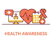 Health Awareness Icons