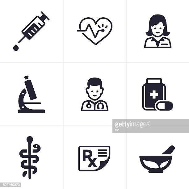 health care and medical icons - prescription stock illustrations, clip art, cartoons, & icons