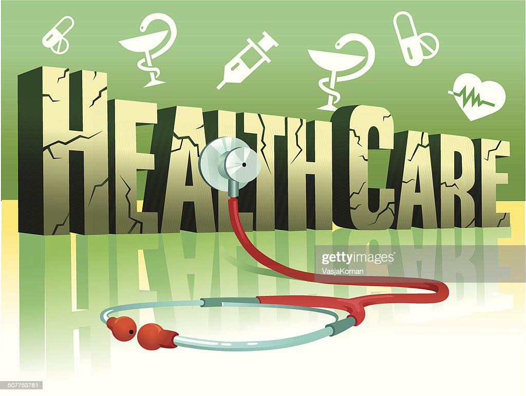 Health Care and Stethoscope : stock illustration