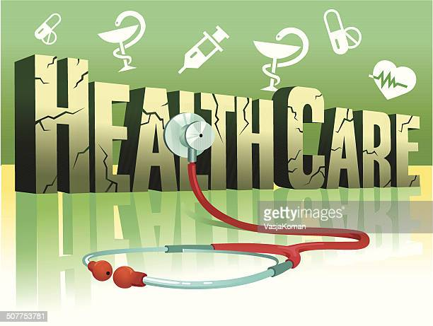 health care and stethoscope - run down stock illustrations, clip art, cartoons, & icons