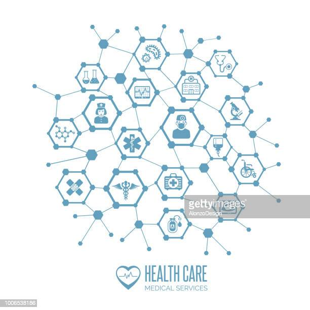 health care concept - complexity stock illustrations