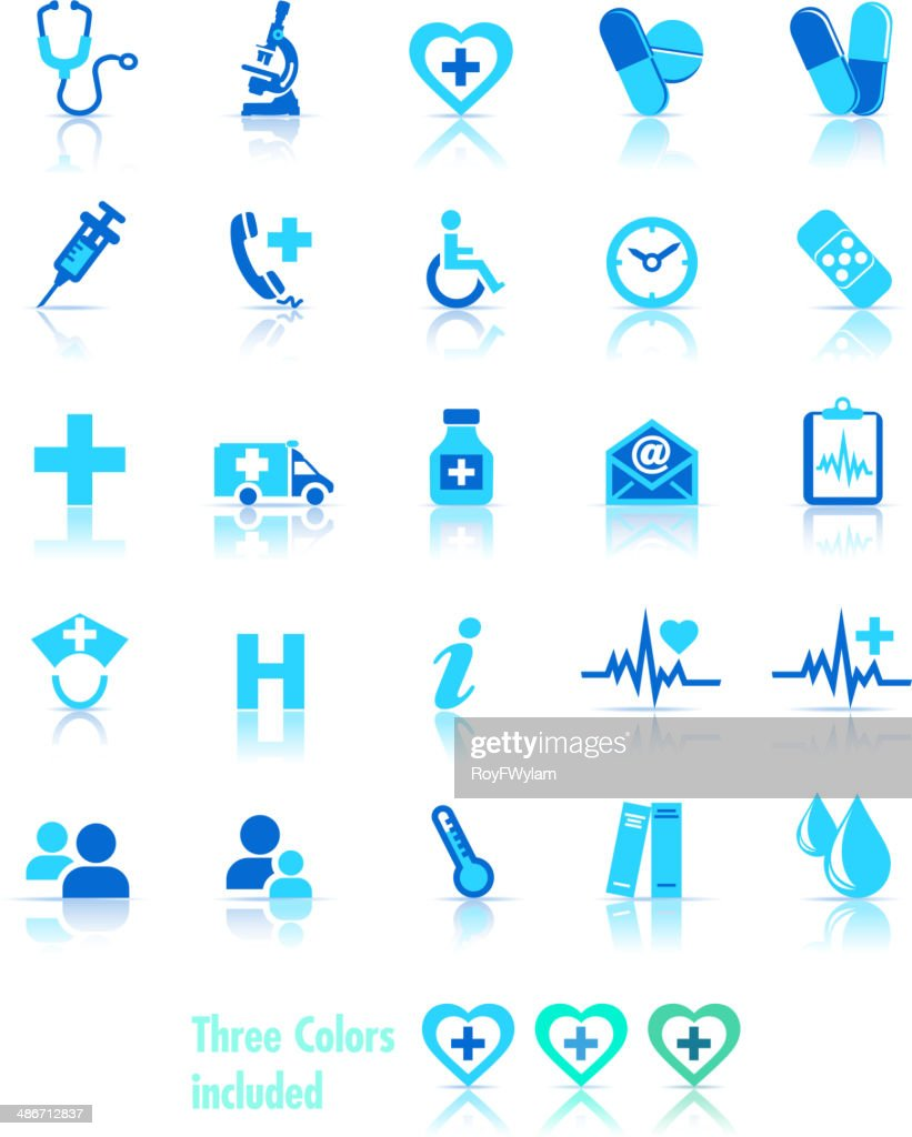 Health Care Icons - 3 Colors