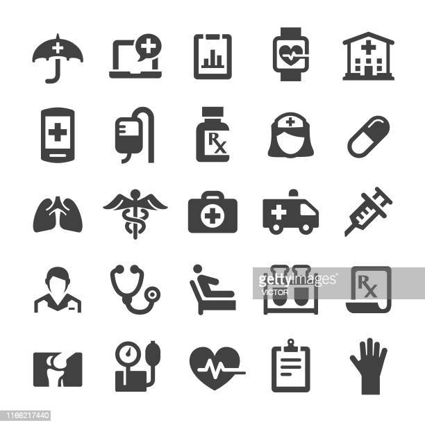 health care icons - smart series - medical exam stock illustrations