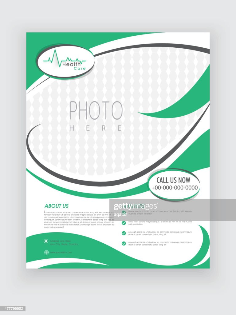 Health Care template, brochure or flyer design.