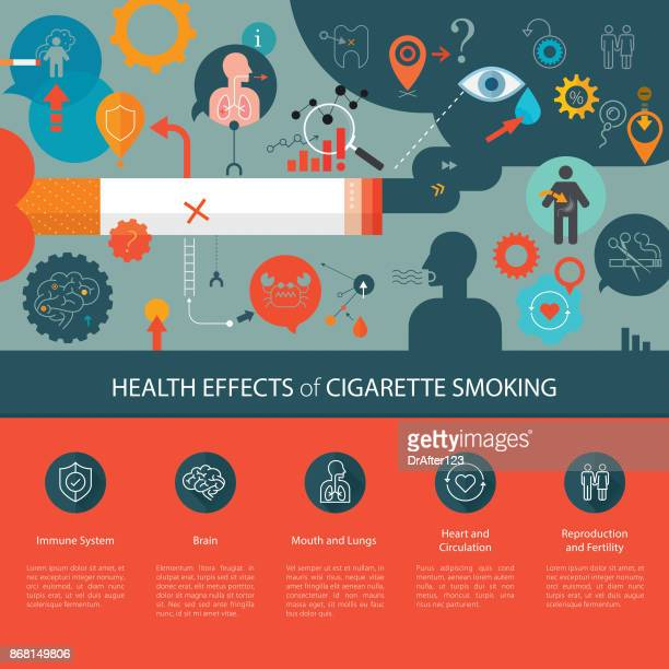 Health Effects Of Cigarette Smoking Template Light Background