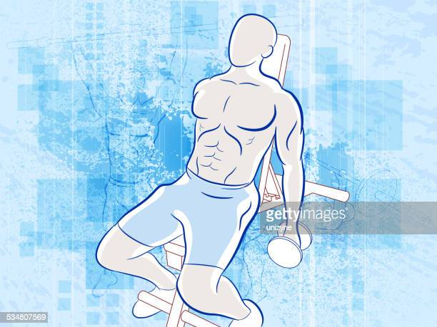 health fitness background with grunge - sports hall stock illustrations