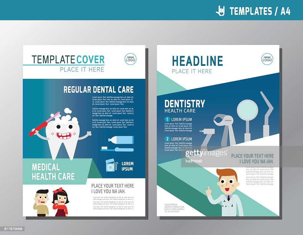 Health Flyer Leaflet Brochure Template A4 Size Design Vector Art