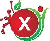 Health Fruit Juice Initial X