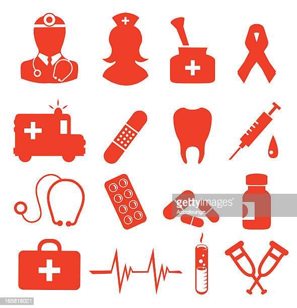 ilustraciones, imágenes clip art, dibujos animados e iconos de stock de iconos de la salud - enfermera