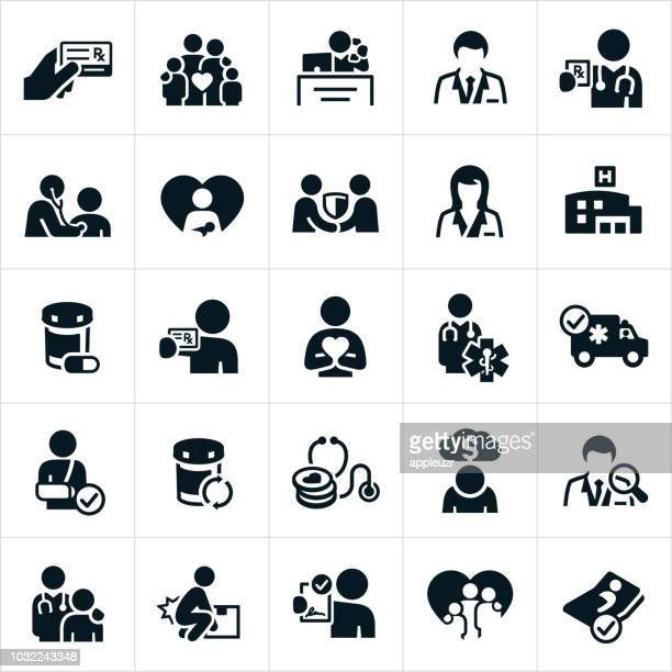 health insurance icons - medical exam stock illustrations