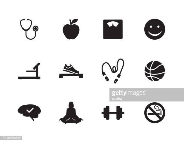 Health Lifestyle Icon Set