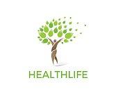 Health lifi vector icon