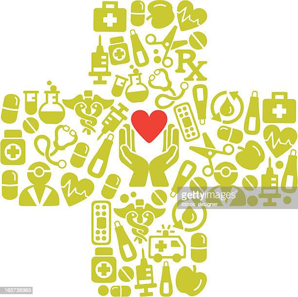 health plus icons concept - istock images stock illustrations