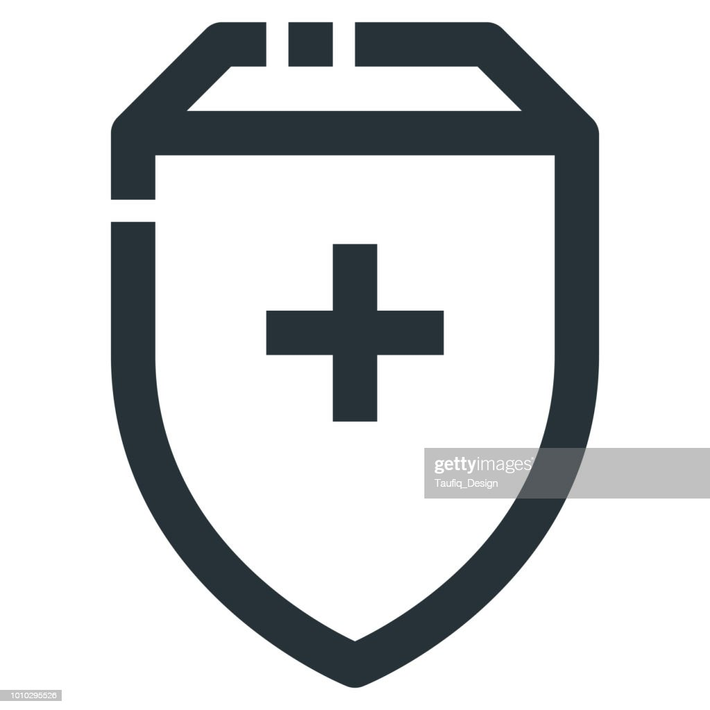 Health Protection Vector Line Icon 32x32 Pixel Perfect. Editable 2 Pixel Stroke Weight. Medical Health Icon for Website Mobile App Presentation