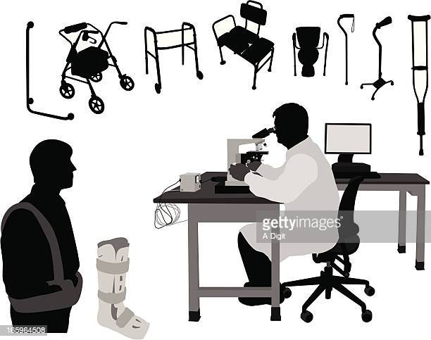 Health Science Vector Silhouette