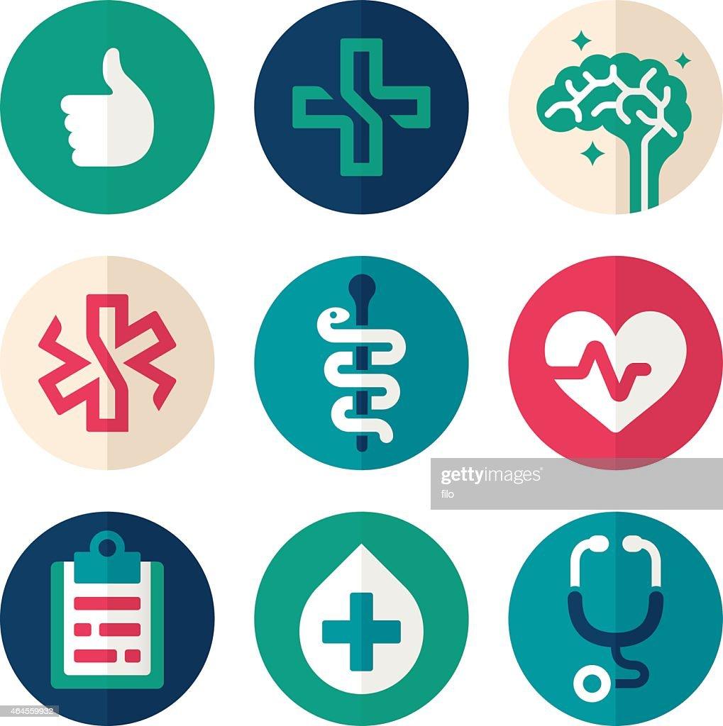 Health Symbols Flat Design