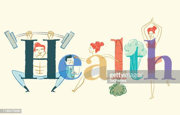 health - aire libre stock illustrations, clip art, cartoons, & icons