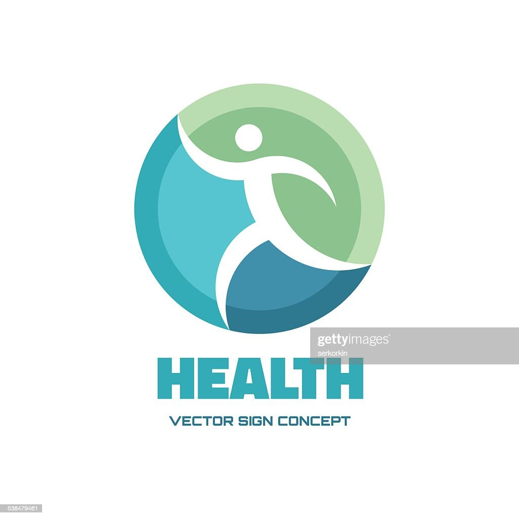 Health - vector logo concept illustration