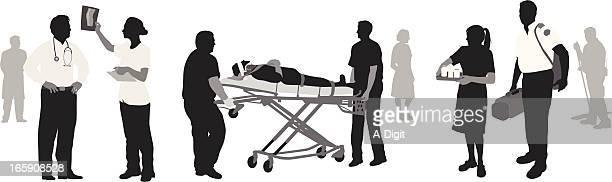 ilustraciones, imágenes clip art, dibujos animados e iconos de stock de healthworkers - enfermera